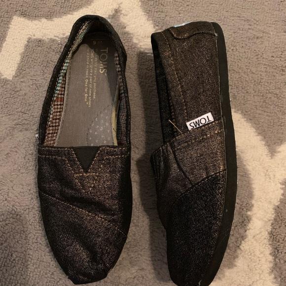 Toms Shoes   Womens Black Gold   Poshmark